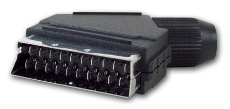 nuval 13089 2 scart 21 polige stecker solder overload. Black Bedroom Furniture Sets. Home Design Ideas
